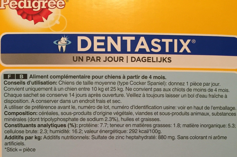 Pedigree - Friandises Dentastix Pour Chien De Moyenne Taille - X56 - Ingredients - fr