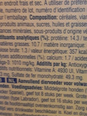 Pedigree Markies Biscuits Pour Chiens Fourrées De Moelle - Ingredients - fr