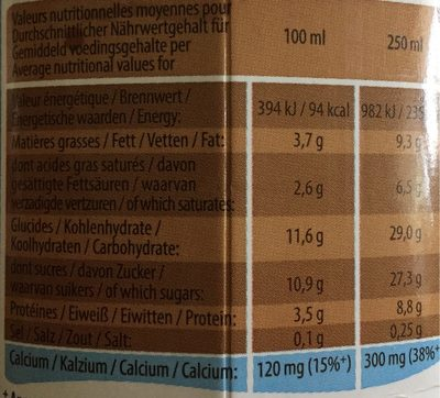 Friandise au lait - Nutrition facts - fr