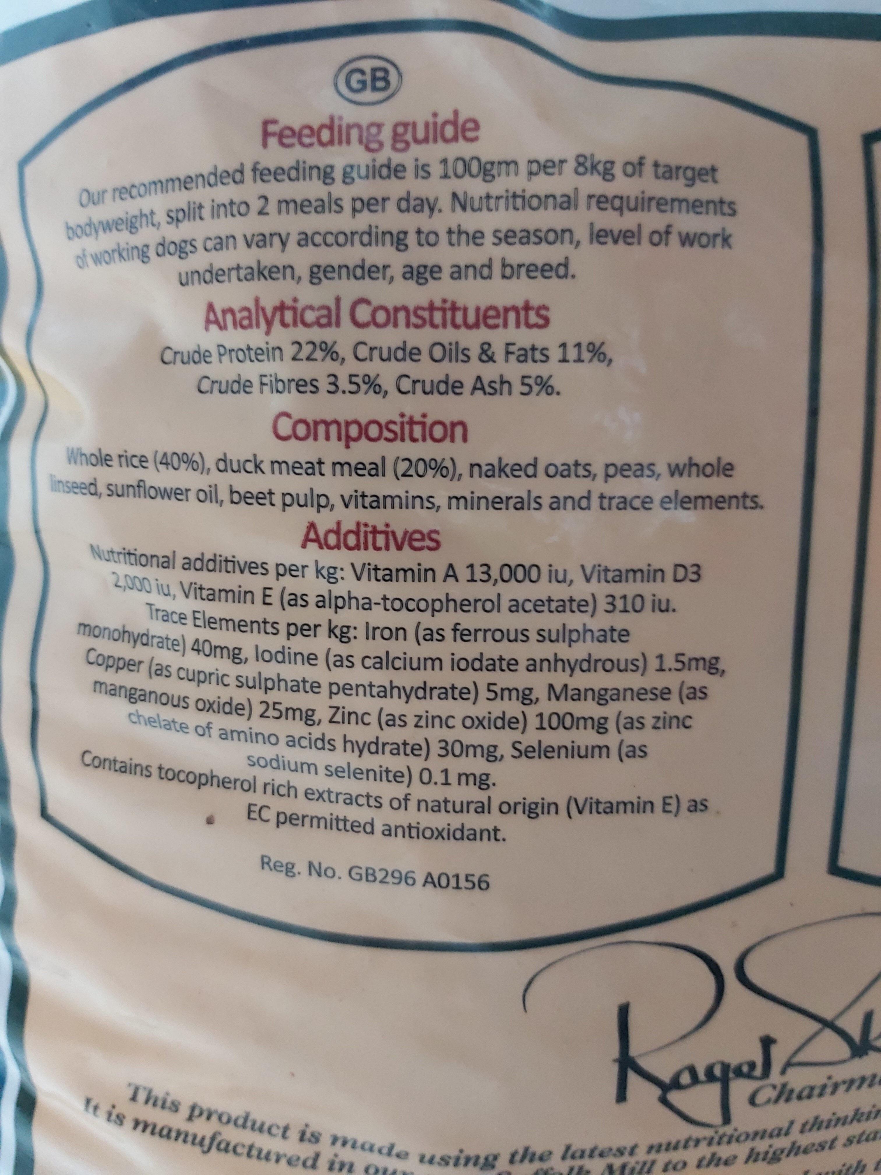 Field & Trial: Duck & Rice - Ingredients - en