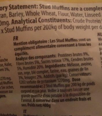 Stud Muffins - Ingredients