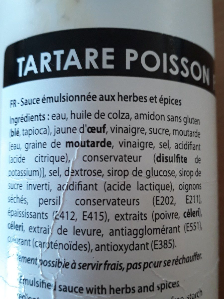 Tartar for fish - Ingredients