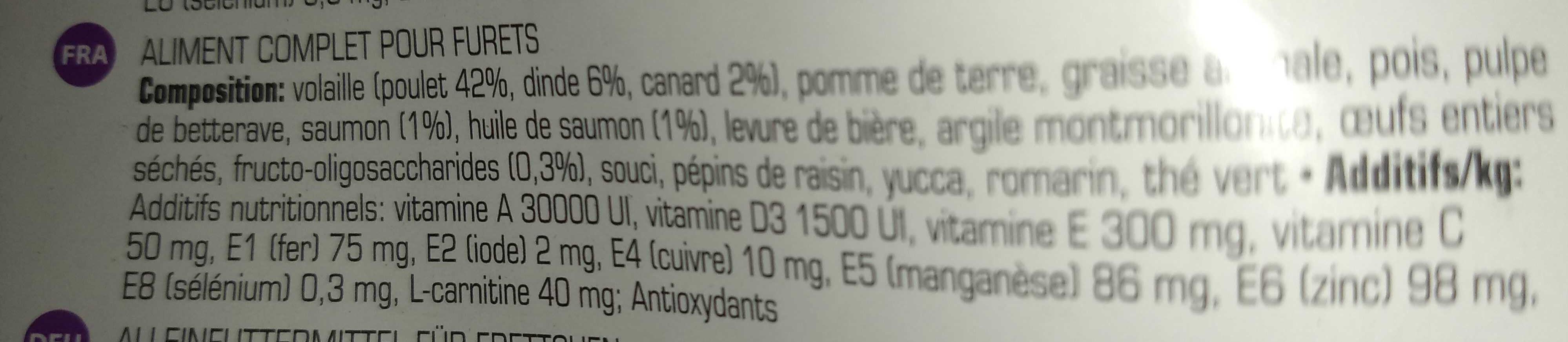 Complete Ferret - Ingredients - en