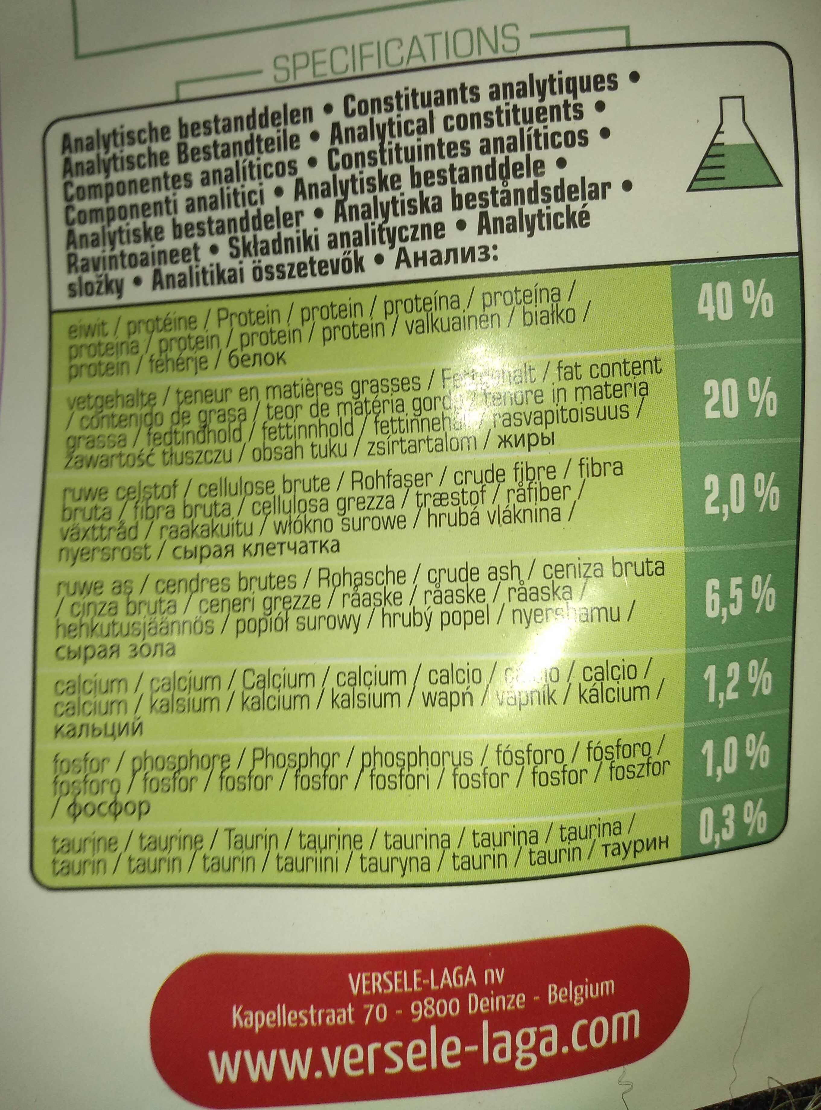 Complete Ferret - Nutrition facts - en
