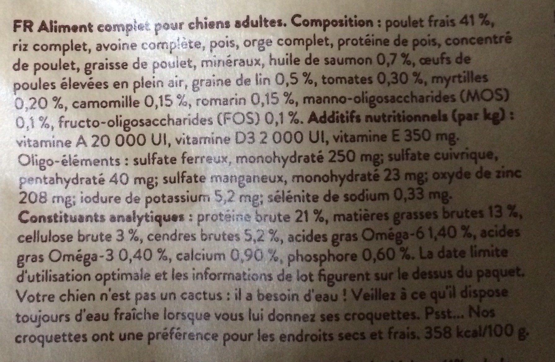 Edgard & Cooper - Croquettes Au Poulet Pour Chien - 700G - Ingredients - fr