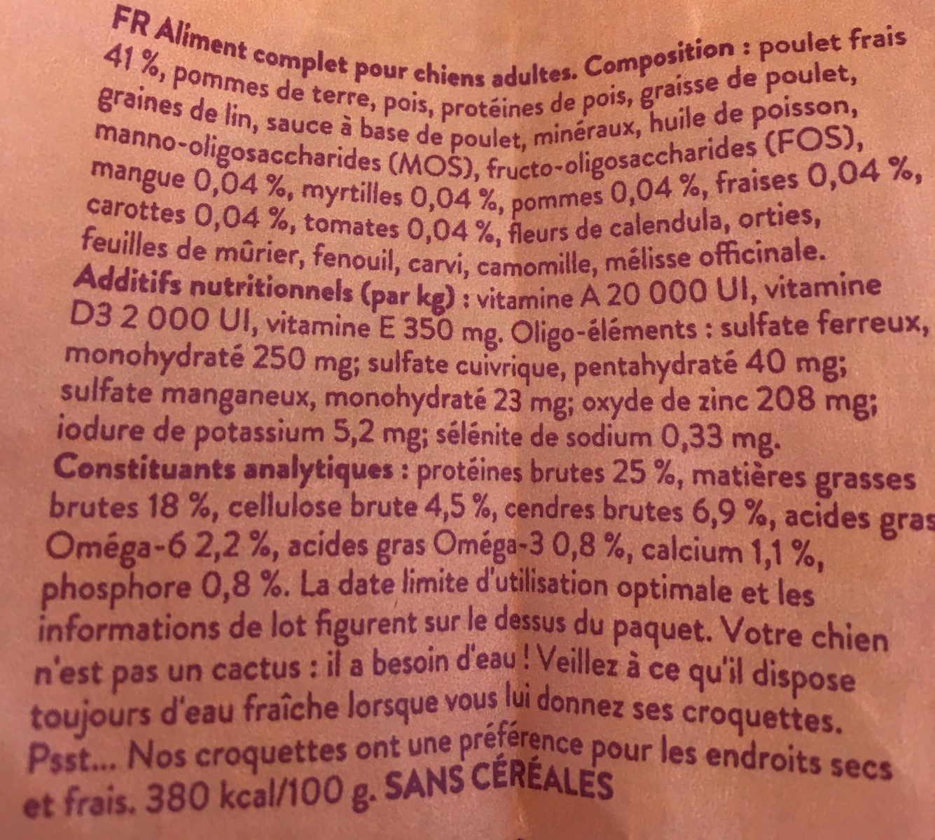 Croquettes pour chiens - Ingrédients - fr