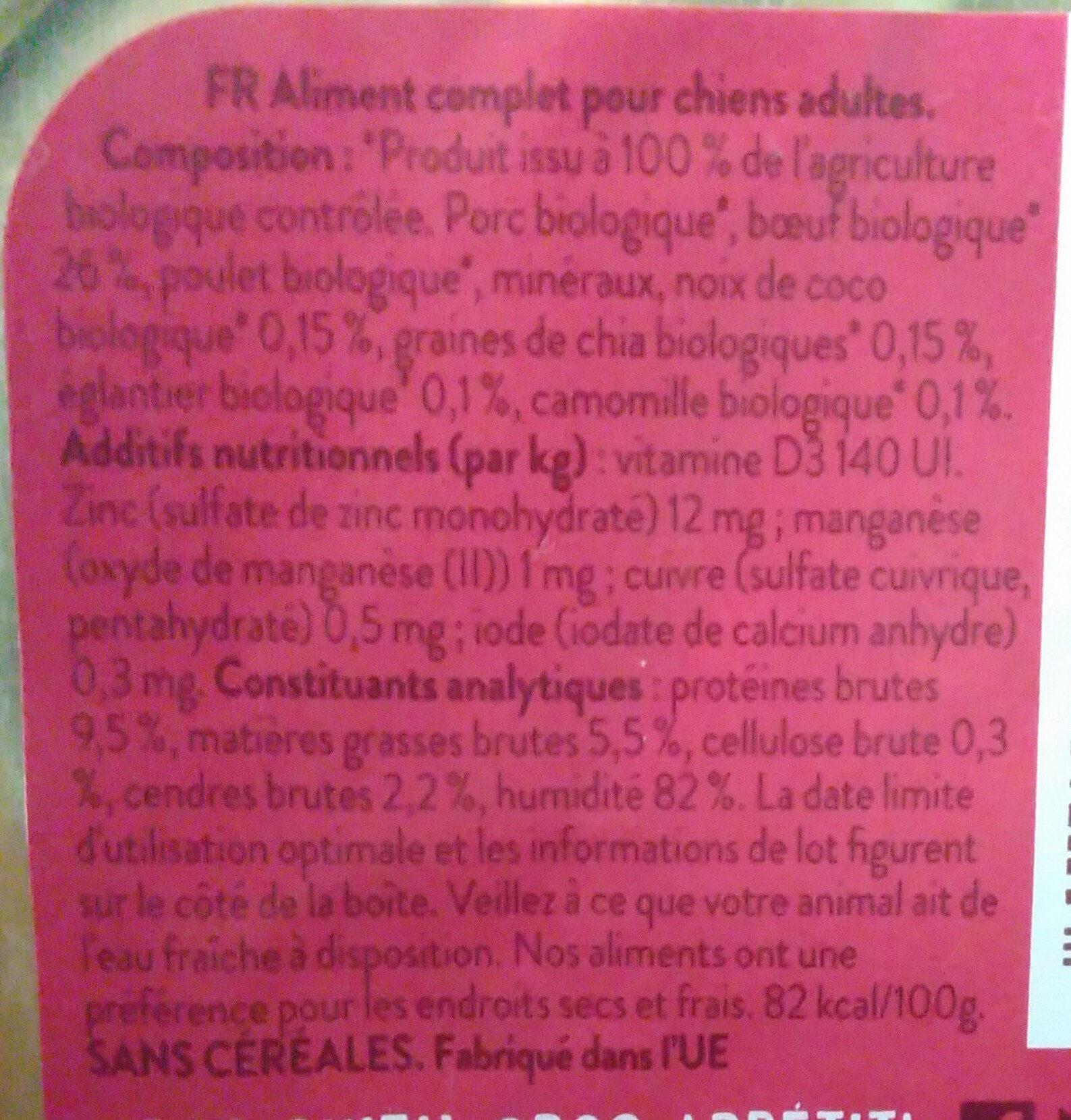 Merveilleux Bœuf - Ingredients - fr