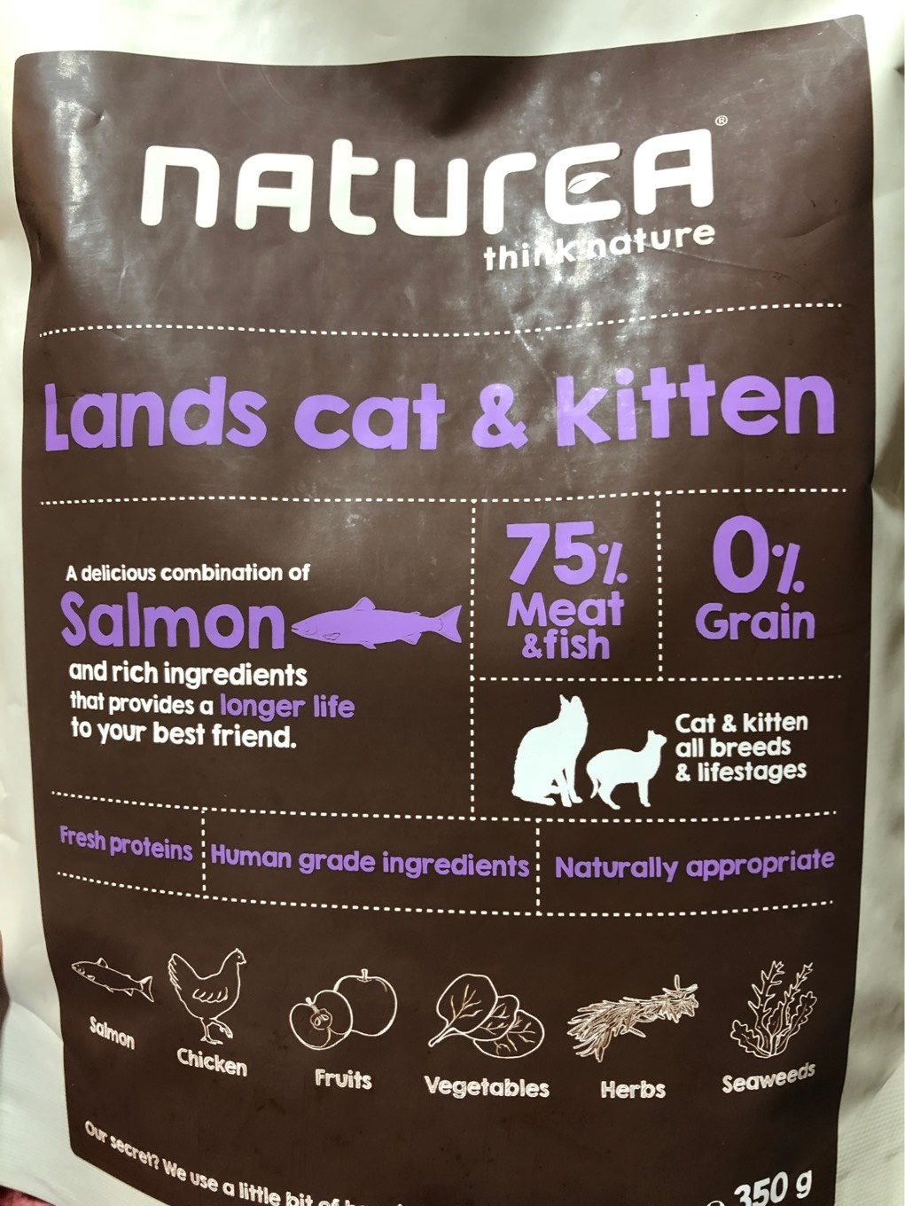 Naturea Lands Cat & Kitten With Meat And Fish 350 GR Cat Grain Free Dry Food - Product - fr