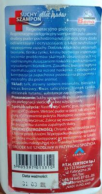 Suchy szampon dla psów - Ingredients - pl