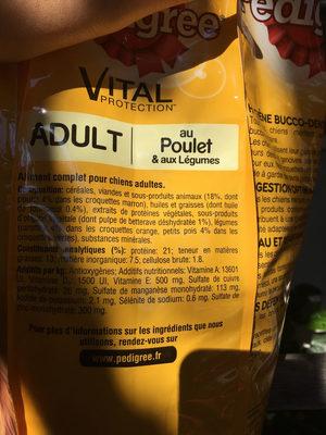 Aliment complet pour chien, adulte, volaille, riz et légumes - Product