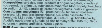 Dentastix - Informations nutritionnelles