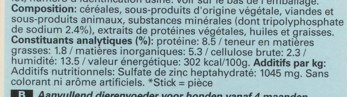 Dentastix - Nutrition facts - fr