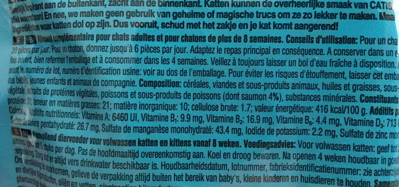 Aliment complémentaire pour chats et chatons, friandises au saumon - Ingredients - fr