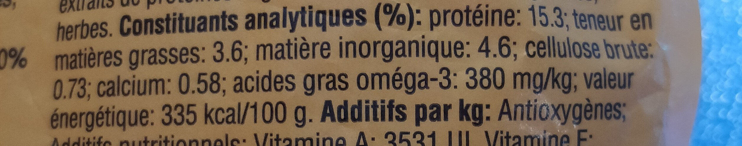 Pédigree - Informations nutritionnelles - fr