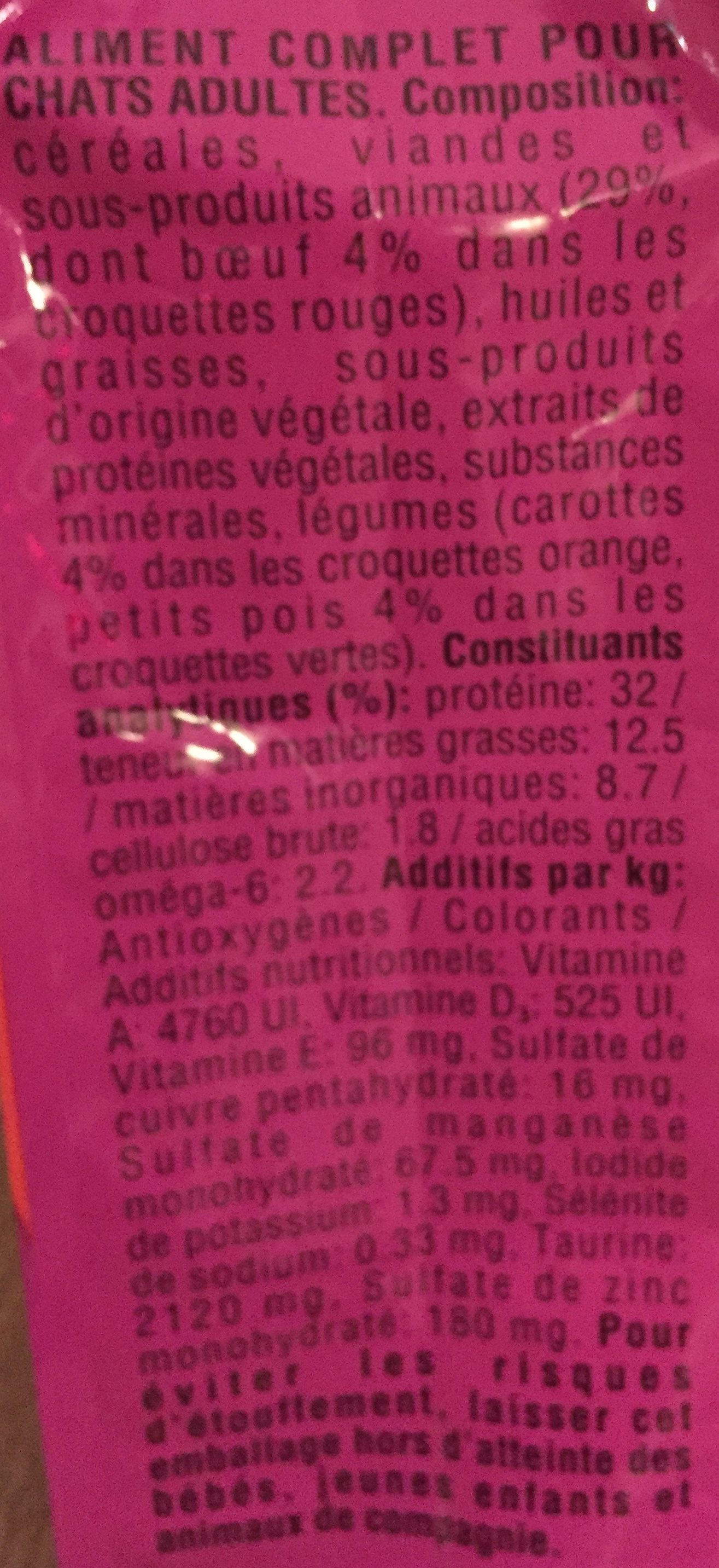 Croquettes (+1an) au Boeuf - Ingredients