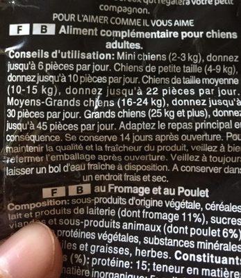 Mini-Joys - Nutrition facts - fr