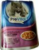 ПреВитал Классик. Полноценный консервированный корм для взрослых кошек. Кусочки в желе с кроликом и индейкой. - Product