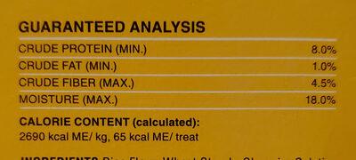 DentaStix - Nutrition facts - en