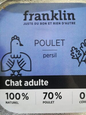 Pâtée chat adulte poulet persil - Product