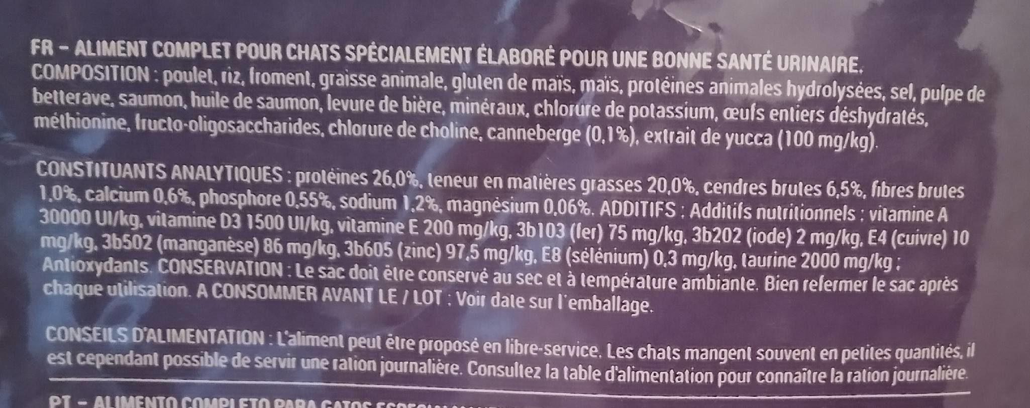 Urinary - Ingrédients - fr