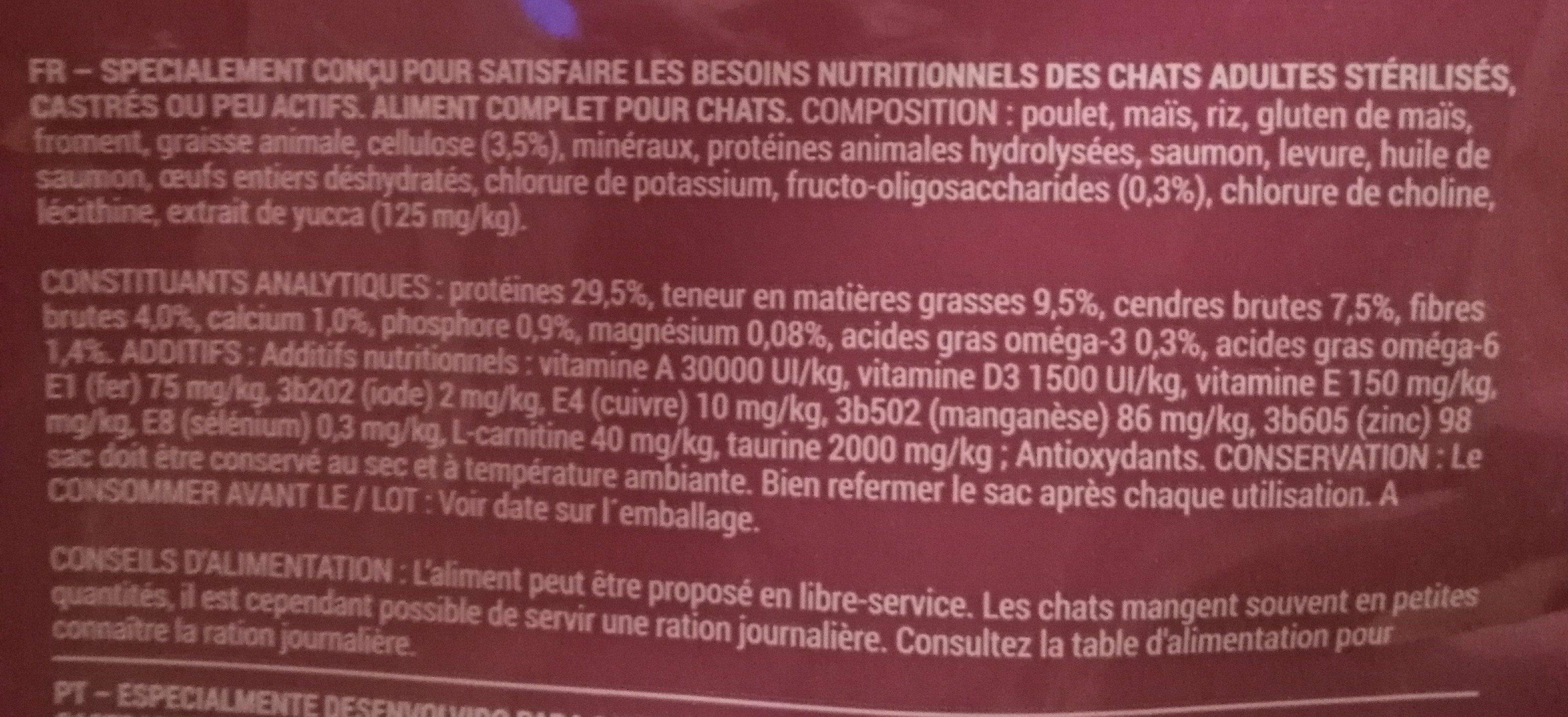 Croquettes chat stérilisé - Ingredients