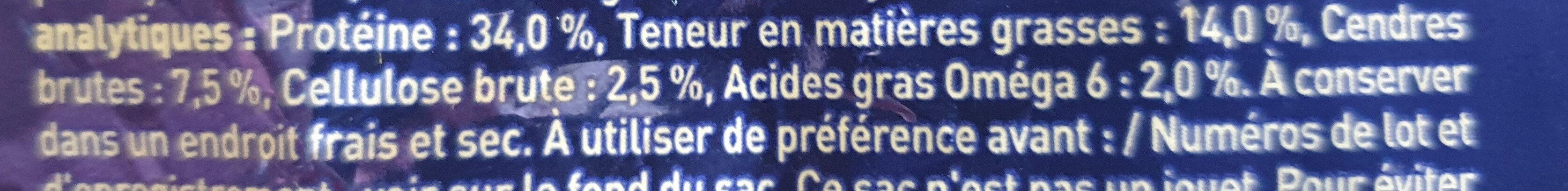 One Croquette Chat Adulte Boeuf 1.5Kg - Nutrition facts - en