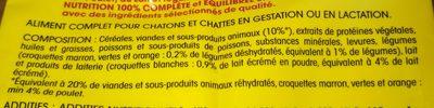 Croq.saumon / Thon Vital Chat 2KG+300G - Ingredients