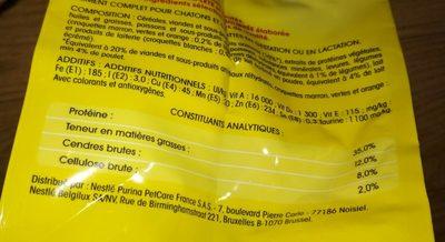 Croq.saumon / Thon Vital Chat 2KG+300G - Nutrition facts