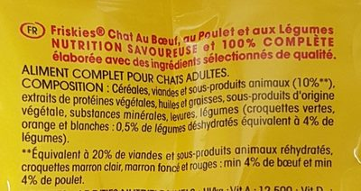 Friskies 1 5Kg Chat Boeuf, - Ingredients - fr