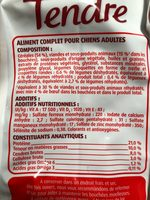 1.5KG Croquettes Bien Etre Boeuf Cereales Legumes Fido - Nutrition facts - fr