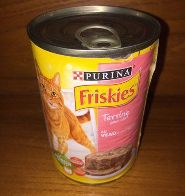 Terrine pour chat au veau et aux legumes - Product