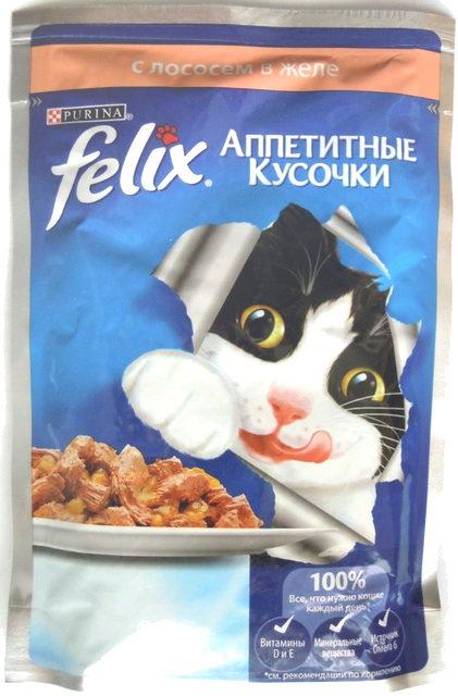 Felix Аппетитные кусочки с лососем в желе - Product