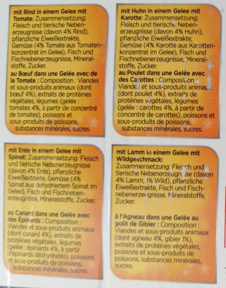 Sensations Gelees - Ingredients - de