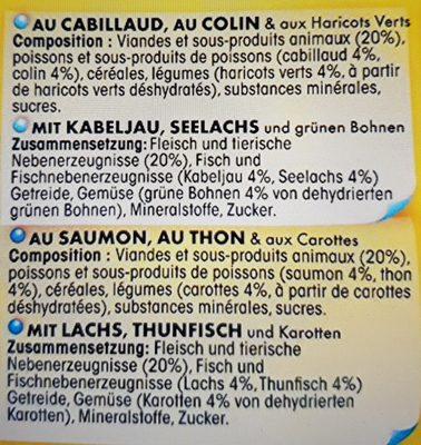 Friskies aux poissons et légumes en sauce - Ingredients - fr