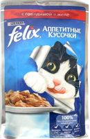 Felix Аппетитные кусочки с говядиной в желе - Product
