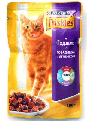 Friskies в Подливе с говядиной и ягненком - Product - ru