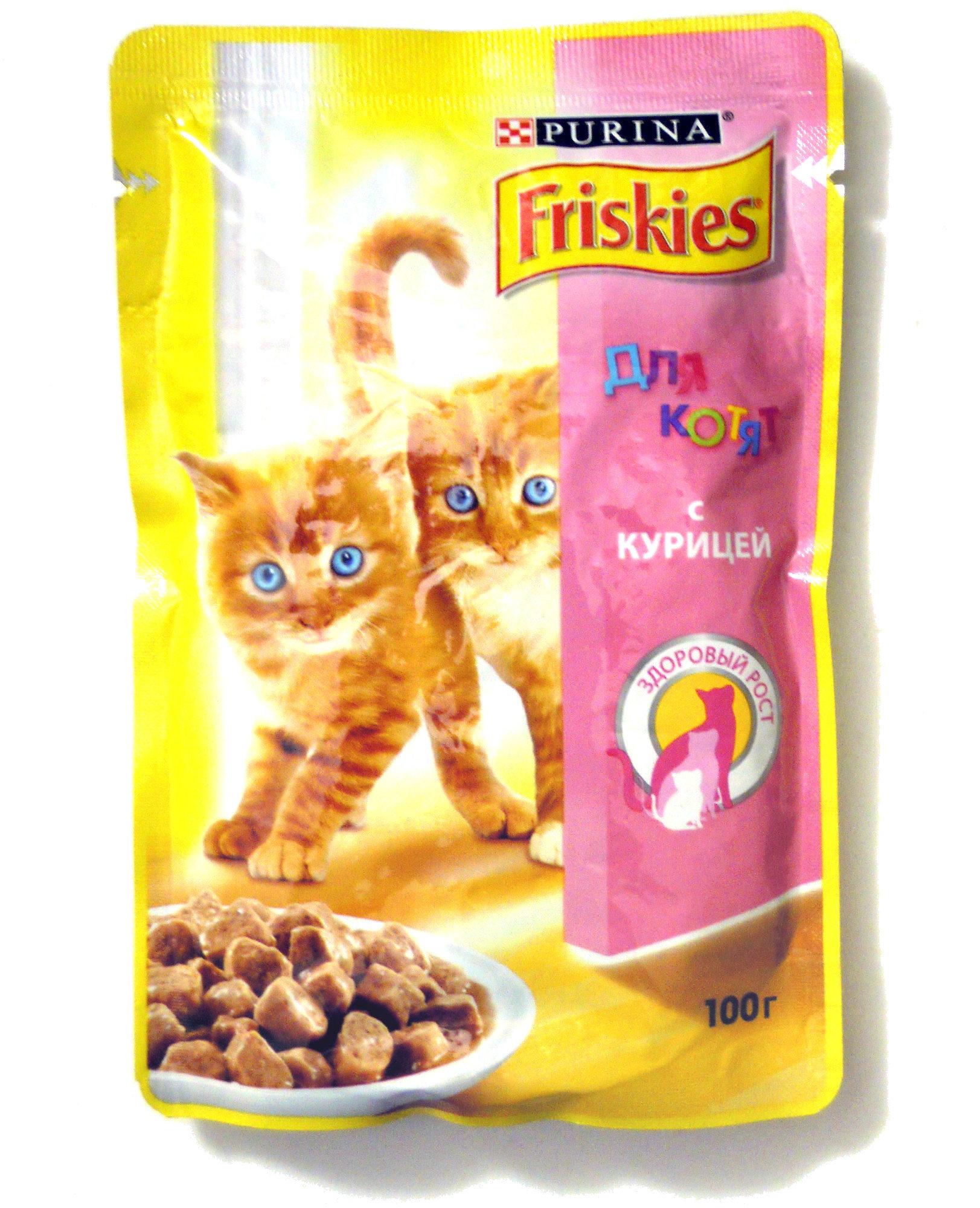 Friskies для котят с курицей - Product - ru