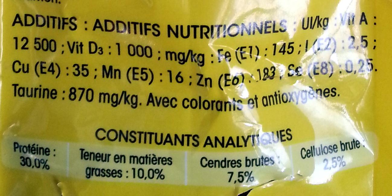 Friskies au saumon - Informations nutritionnelles