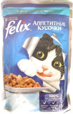 Felix Аппетитные кусочки с форелью в желе - Product