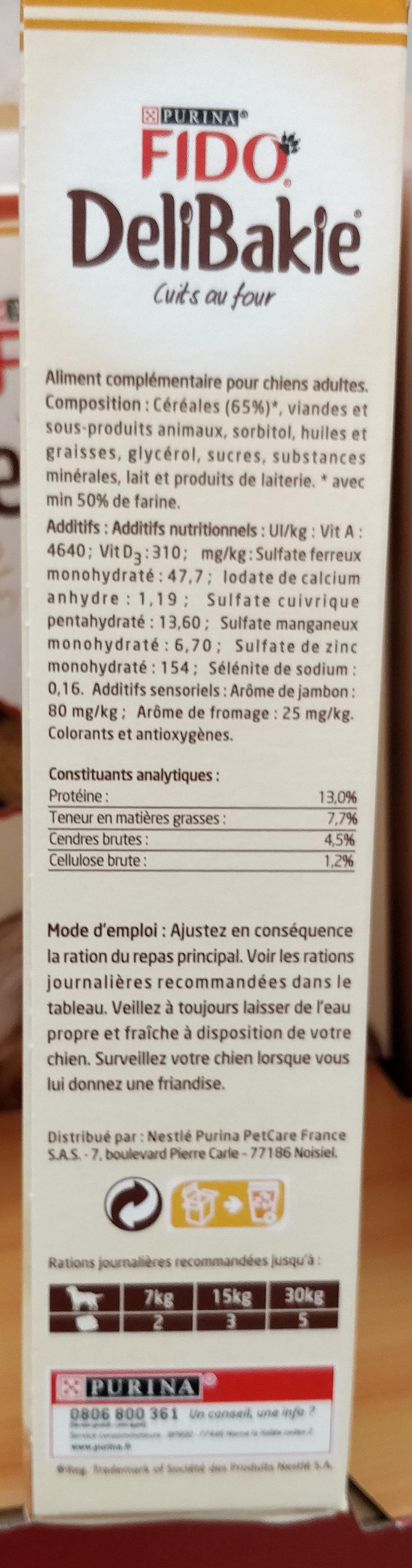 350G Delibakie Hearts Fido - Nutrition facts