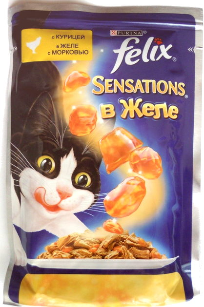 Felix Sensations в желе. С курицей в желе с морковью. - Product