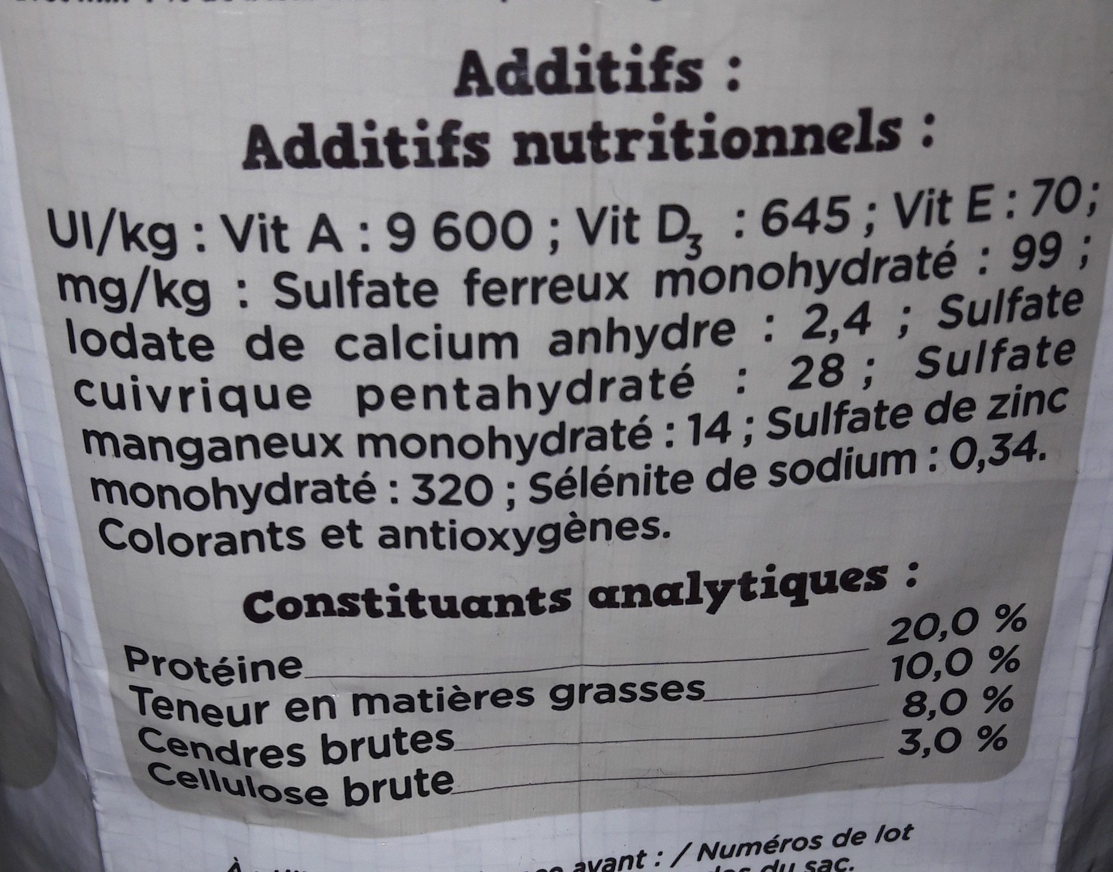 Fido croq mix adulte au beuf - Nutrition facts