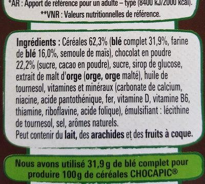 céréale chocapic - Ingredients