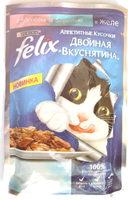 Felix Аппетитные кусочки Двойная Вкуснятина с лососем и форелью - Product