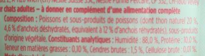 Purina Gourmet Soupe De Thon Et Anchois - Ingrédients