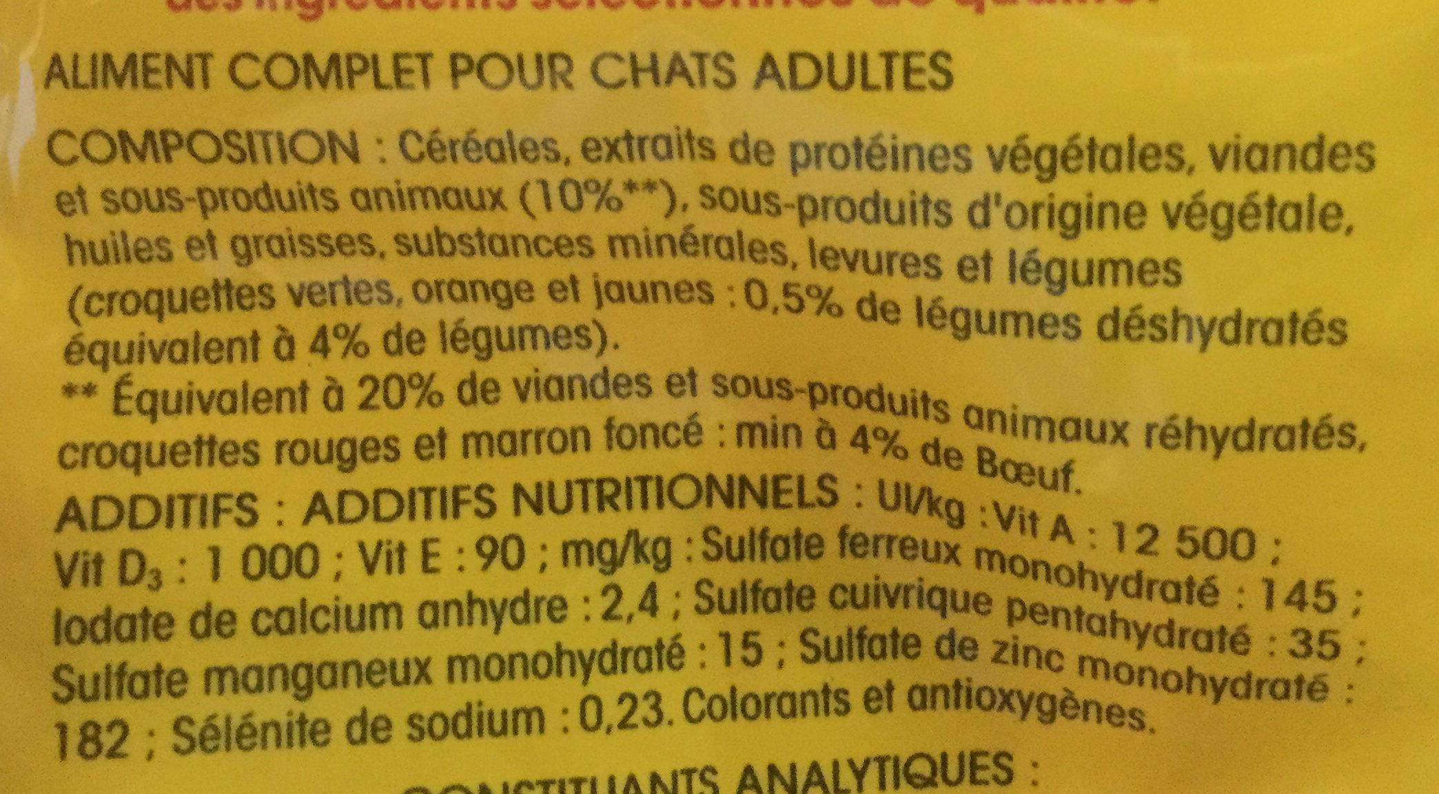 Chats stérilisés - au bœuf - Ingrédients