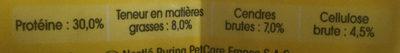 Chats stérilisés - au bœuf - Nutrition facts
