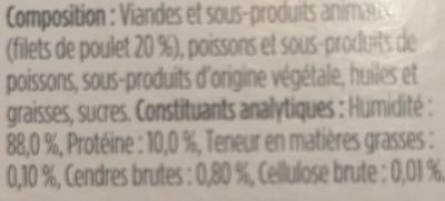 Delicat bouillon pour chat - Ingredients
