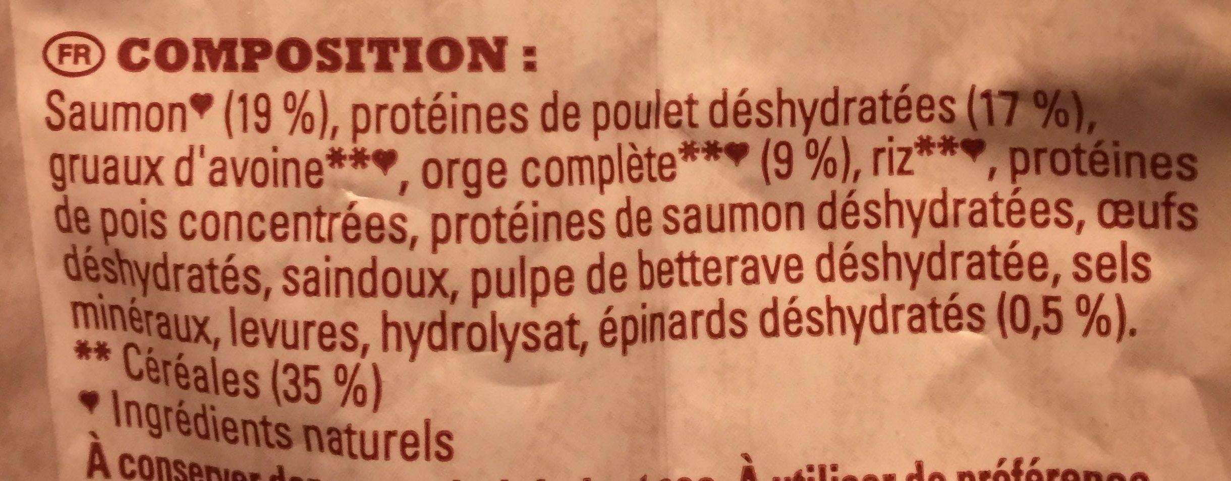Croquettes saumon et orge complète - Ingredients - fr