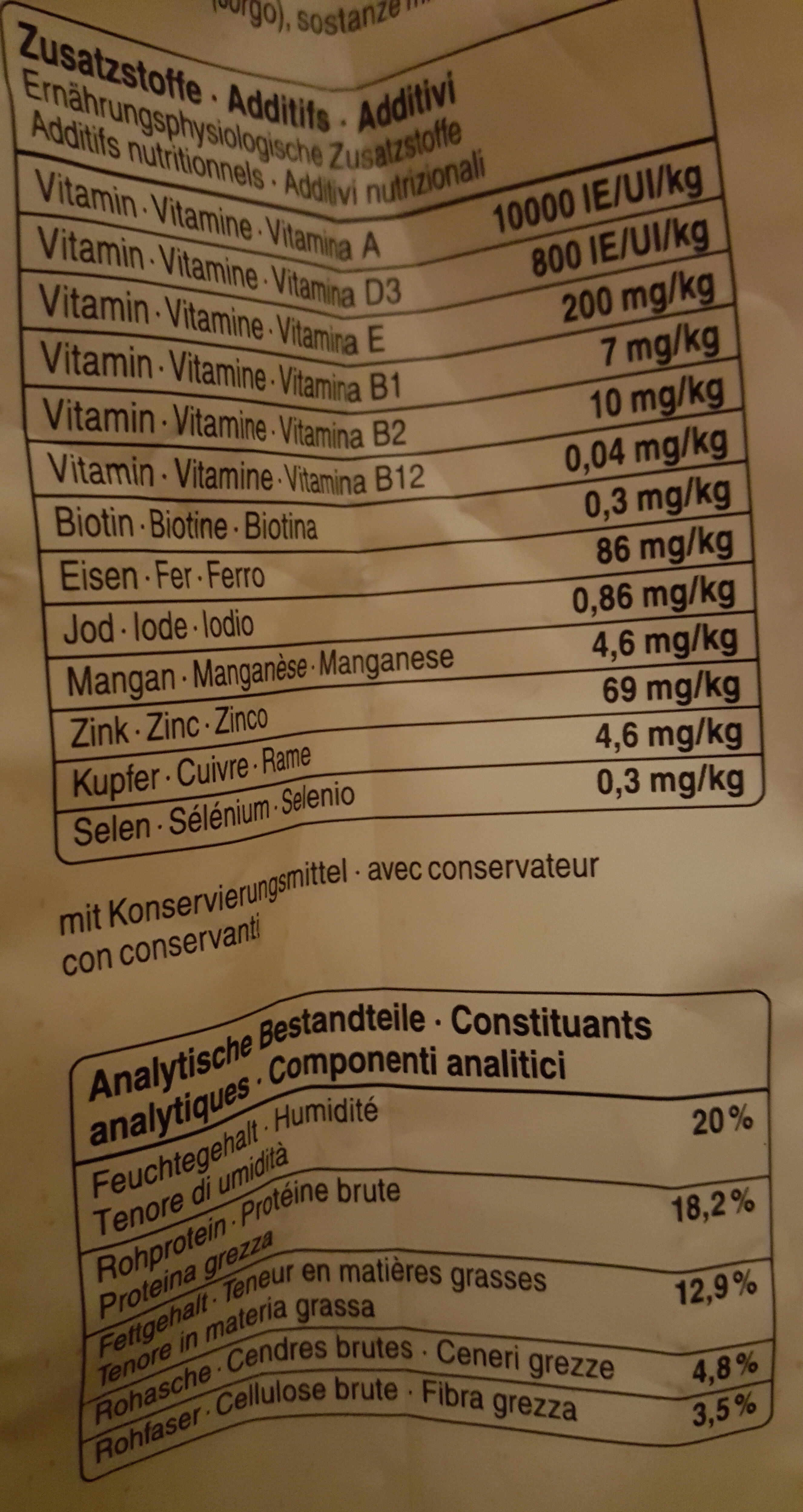 Natura plus - Nutrition facts